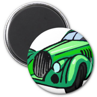 Green Roadster Magnet