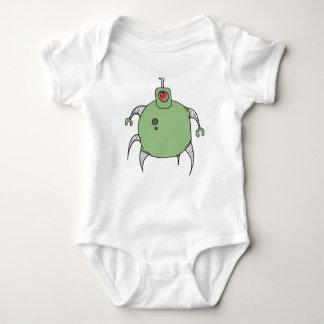 Green Robot Cyclops Spider Baby Bodysuit