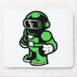 Green Robot Mousepad