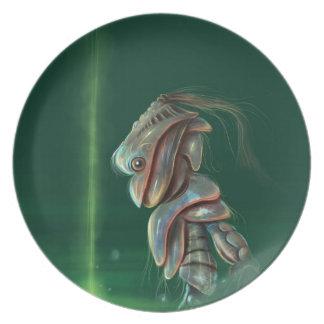 green robot Plate