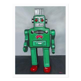 Green Robot Postcard