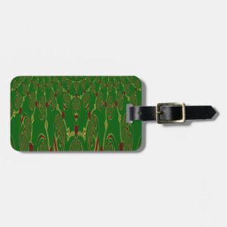 Green Robots Tag For Luggage