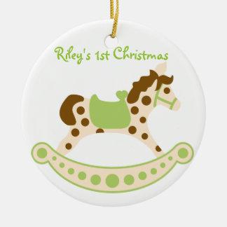 Green Rocking Horse Ornament