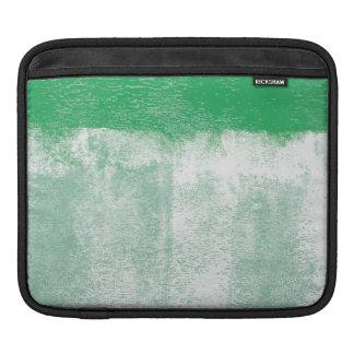 Green rolled paint ipad sleeve