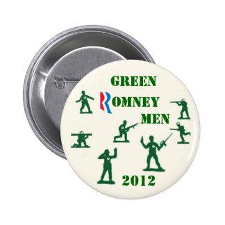 Green Romney Men 2012 Buttons