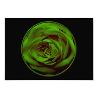 Green Rose Card
