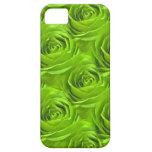 Green Rose Center Wallpaper Pattern iPhone 5 Cases