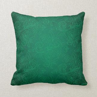 Green Rose Pillow