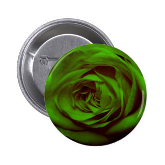 Green Rose Pinback Buttons