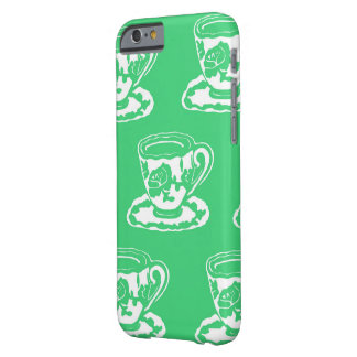 Green Rose Teacups Pattern iPhone 6 Case