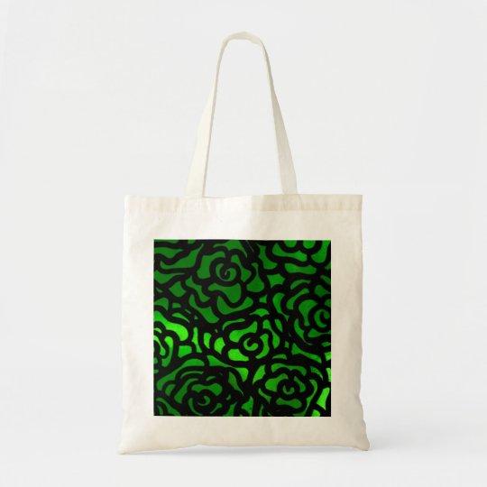 green rose tote bag