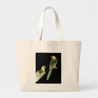 Green Rosella Pair - Platycercus caledonicus Jumbo Tote Bag
