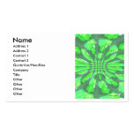 Green Roses Pattern Double-Sided Standard Business Cards (Pack Of 100)