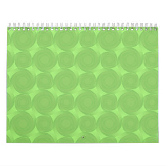 green roses pattern calendar