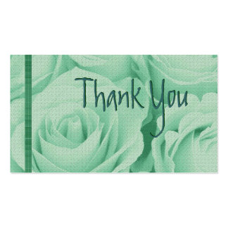 GREEN Roses Thank You Wedding Card Business Card