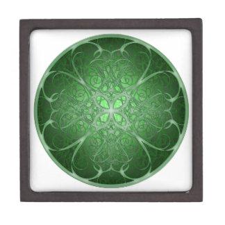 Green Rosetta Premium Trinket Boxes