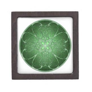 Green Rosetta Premium Jewelry Box