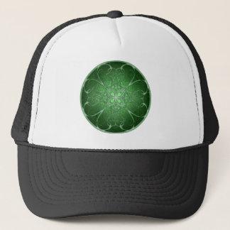 Green Rosetta Trucker Hat
