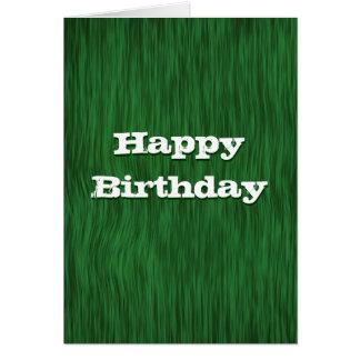 Green Rough Wood Birthday Card