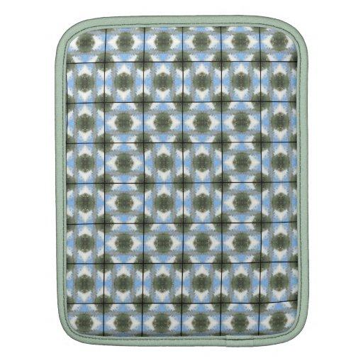 Green Round Bushes Grid iPad Sleeve