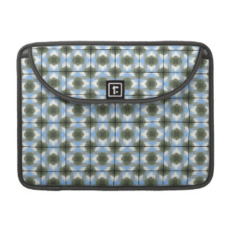Green Round Bushes Grid Sleeve For MacBooks