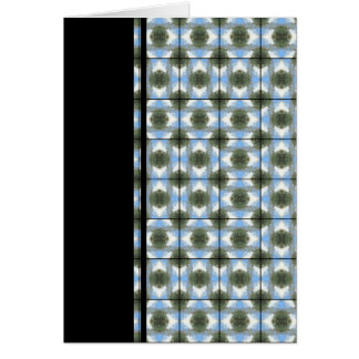 Green Round Bushes Grid Stationery Note Card