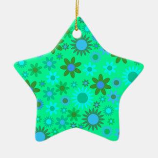 Green Round Image Ceramic Ornament