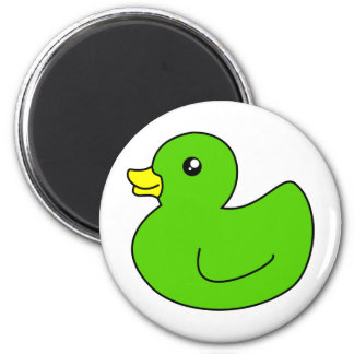 Green Rubber Duck Magnet