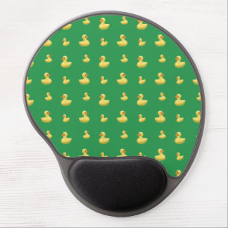 Green rubber duck pattern gel mouse pad