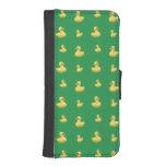 Green rubber duck pattern phone wallet