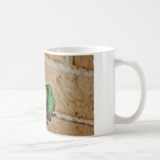 green ruby hummingbird classic white coffee mug