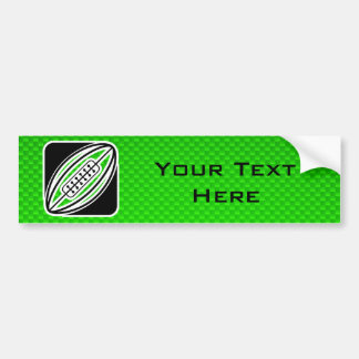 Green Rugby Car Bumper Sticker