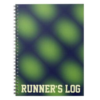 Green Runner's Log Running Notebook Spiral Journal