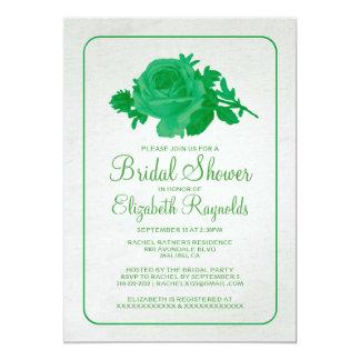 Green Rustic Floral/Flower Bridal Shower Invites Invitation