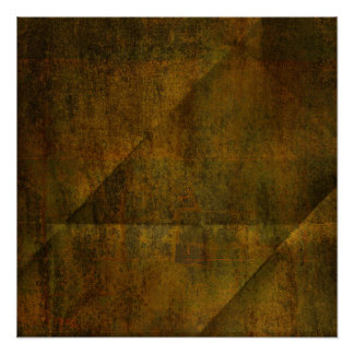 Green Rusty Creased background Poster
