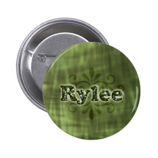 Green Rylee 2 Inch Round Button