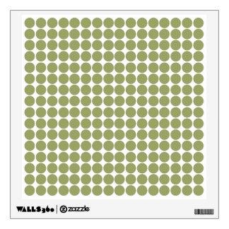 Green Safari Dot Wall Decals