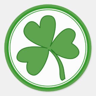 Green Saint Patrick's Day Shamrock Stickers