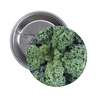 green salad leaves texture 6 cm round badge