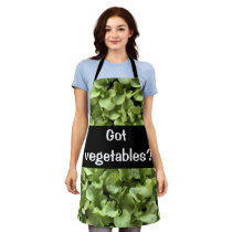 Green Salad leaves  Vegetable in garden Apron