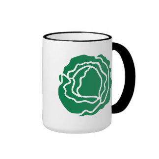 Green salad lettuce coffee mugs