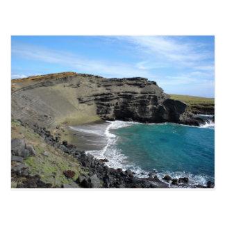 Green Sand Beach Big Island Hawaii Postcard