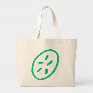 Green Sand Dollar Canvas Bags
