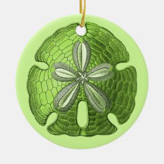 Green Sand Dollar Ornament