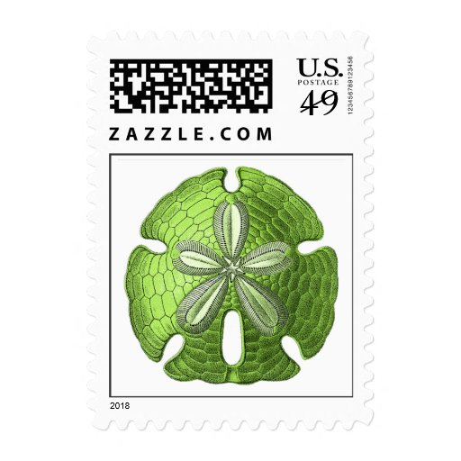 Green Sand Dollar Postage Stamps