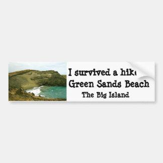 Green Sands Beach Hawaii Bumper Sticker
