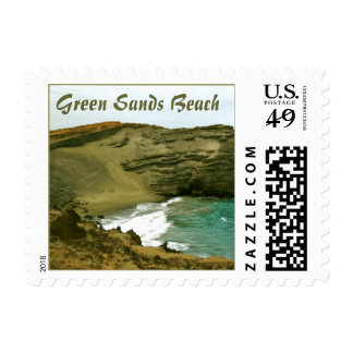 Green Sands Beach Postage Stamp