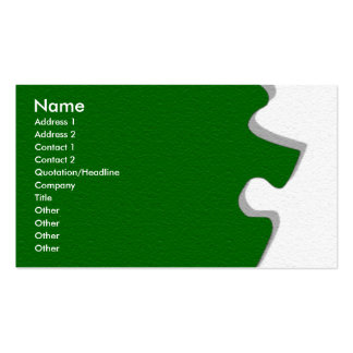 Green Sandstone Puzzle Profile Card Double-Sided Standard Business Cards (Pack Of 100)