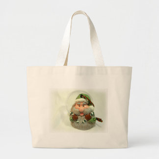 Green Santa Large Tote Bag
