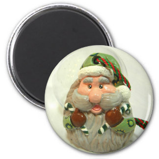 Green Santa Magnet